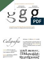 01 Caligrafía, lettering y tipografía