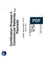 Certification Process for Commercial Batteries for Payloads