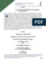 Ley 40 Ley de Municipios Con Sus Reformas
