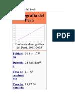 Demografía Del Perú