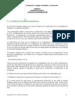 UNIDAD I Int Lenguaje Ensamblador y El Procesador