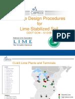2009 Workshop Mix Design Procedures for Lime Stabilized Soil