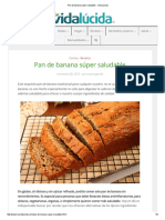 Pan de Banana Súper Saludable - Vida Lúcida