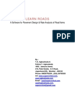 Learn Roads-Road Pavement Design and Rate Analysis Software