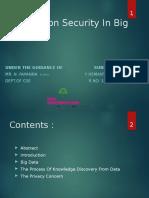 Information Security in Bigdata