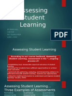 assessing student learning week 1