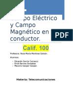 Campo Eléctrico y Campo Magnético en Un Conductor