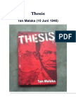 Tan Malaka - Thesis