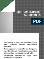 Cost Containment Bangunan Rs