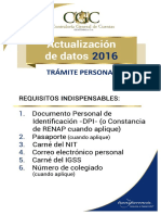 Requisitos Actualizacion de Datos contraloria