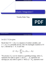 Stochastic Integration I