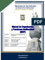 Manual de Organizacion San Salvador