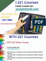 MTH 221 Proactive Tutors/snaptutorial
