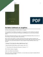 De Bello Catilinario Et Jurgthino