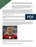 Tips Menyeleksi Agen Judi Bola Online Terkenal dan Aman