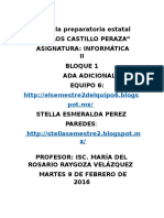 Ambiente Excel Stella Pérez