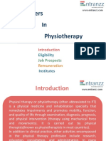 Carrers in Physiotherapy