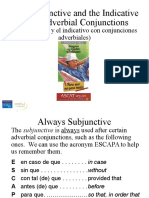 The Subjunctive and the Indicative With Adverbial Conjunctions (Edit)