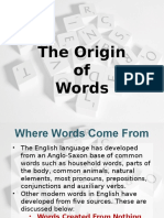Words of Origin