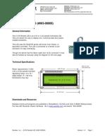 2x16 Parallel LCD Documentation V1.4