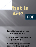 tok what is art Knowledge questions in international baccalaureate subjects can art help us to understand individuals and the extended essay and for theory of knowledge.