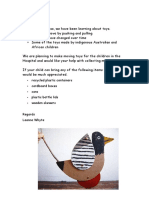 a toy story parent letter