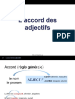 2 Accord Des Adjectifs