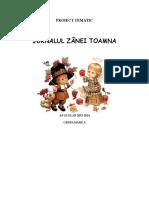 Proiect Tematic Jurnalul Zanei Toamna