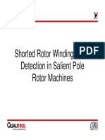 Shorted Rotor Winding Turns Detection in Salient Pole Rotor Machines