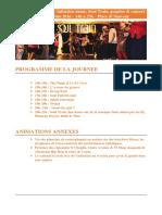 Programme de La Journee Soul Funk - Previsionnel