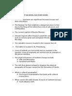 study guide 4th six wks test