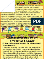 Characteristic of an Effective Leader