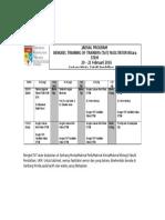 Jadual Bengkel ToT Bitara STEM 20&21feb2016