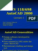 1.d. AutoCAD Lecture 1