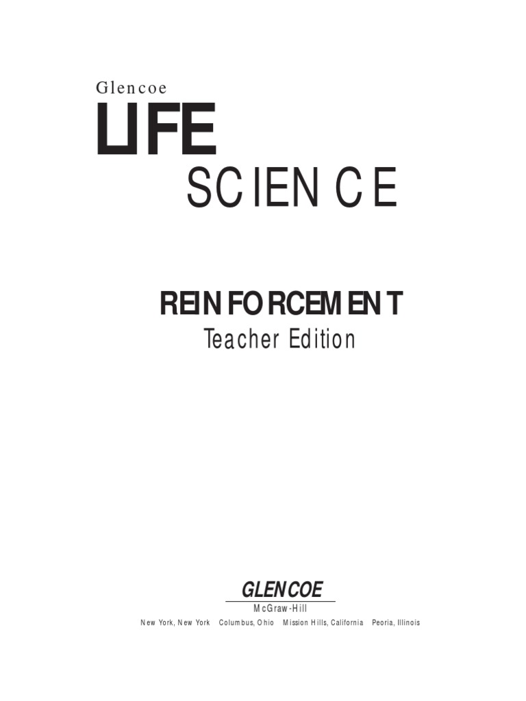 Worksheets Glencoe Life Science Worksheets 8 th science reinforcement worksheets meiosis allele