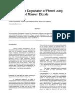 Photocatalytic Degradation of Phenol Using Copper Sulfate