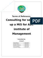Terms of Reference MIS