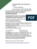 DMRC Jodhpur Recruitment 2016 – JRF, Technician- C (Lab Technician) Posts
