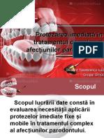 Protezarea imediată în tratamentul complex al afecţiunilor parodontului