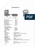 Specification of Scania Truck R580LA-6x4