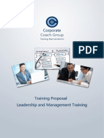 Sample Leadership and Management Training in House Prospectus