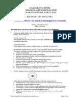 Soal Teori Osn Guru Kimia Sma 2012