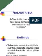 MALNUTRIŢIA