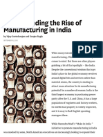 Understanding the Rise of Manufacturing in India