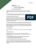 Group Accounting Policies
