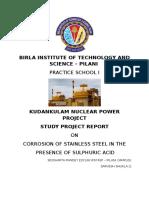 Study Project Report-siddharth, Sarvesh