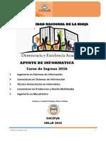 Curso Introductorio 2016 Informatica UNLAR
