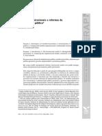 T1- Modelos Organizacionais e Reformas Da Administração Pública* Leonardo Secchi** (Conflito de Codificação Unicode)