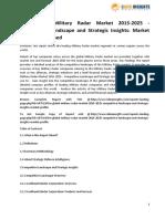 The Global Military Radar Market Competitive Landscape