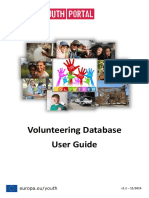 Volunteering Database User Guide 2014